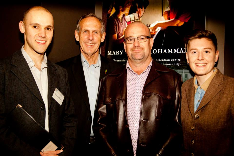 EFFM Director Nicholas Aberle, Bob Brown, Charles Roche & Jessie Boylan at the EFFM launch