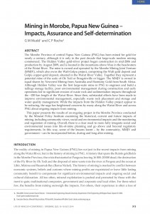 Mining in Morobe, Papua New Guinea – Impacts, Assurance and Self-determination cover copy