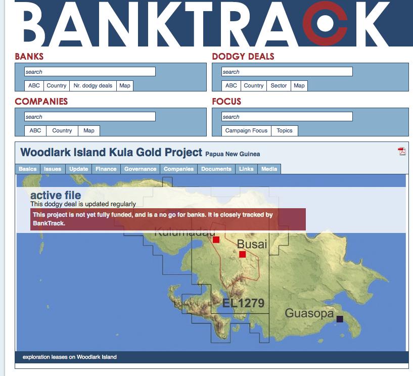 BankTrack - Woodlark island